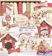 Season's Grreetings Mini Scrap Kit - Mary Fran - NitWit Collections
