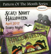 Scary Night Halloween - Pattern of the Month Series - April 2017 - PM6001 - Stoney Creek
