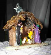 Plastic Canvas Nativity ornament - Mary Maxim