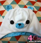 Little white bear hat-86866874