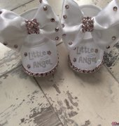 Baby's blinged up booties - mellforster