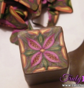 Exotic bloom kaleidoscope cane
