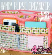 Handy Purse Organizer - Caroline Fairbanks-Critchfield - Sew Can She - Free