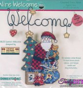 Santa's Welcome - 8633 - Wire Welcome - Debbie Mumm - Dimensions
