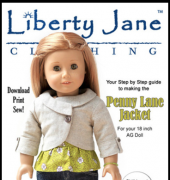 "Penny Lane Jacket - Fits 18"" Dolls - Liberty Jane Clothing"
