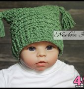 Textured Ribbed Hat - 080 - AmandaChapman - Newborn Knots