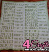 Binary Baby Blanket - Miranda Humphries - Free