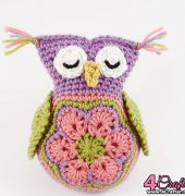 Sleepy Owl Toy - Janaya Chouinard - Charmed By Ewe