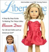 "Blossom Dress - Fits 18"" Dolls - Liberty Jane Clothing"