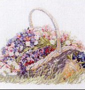 Basket with Flowers - 70-7009 - Permin