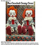 Mr and Mrs Clownwise - Tracey Denise - The Crochet Crazy Crew