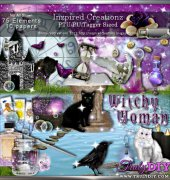 Witchy Woman Scrapbook Kit - Inzpired Creationz
