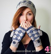 The Traveler Hat and Mitten Set - Kristina Smiley - Expression Fiber Arts