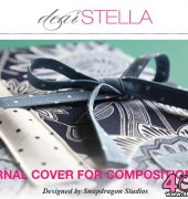 Journal Cover for Composition Pad - Snapdragon Studios - Dear Stella - Free