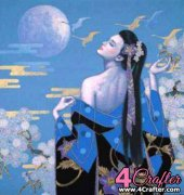 Oriental Lady Under the Moon - Karl Bang (aka Ka Bang)