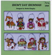 snowy day snowman - 1564 - Robin Kingsley - Imaginating