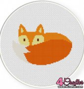 Fox Tail - Daily Cross Stitch