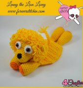 Lenny the Lion Lovey - Forever Stitchin