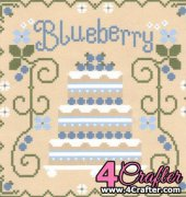 Blueberry Shortcake - Cakes Series - Nikki Leeman - Country Cottage Needleworks