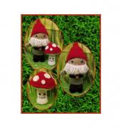 JJ and Pals Gnome Outfit and Mushroom Buddy - Kelli Newcome - Kellis Kreations