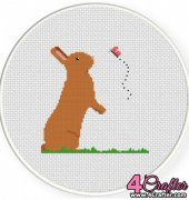 Bunny And Butterfly - Daily Cross Stitch