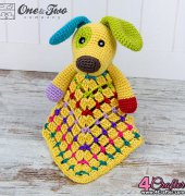 Scrappy the Happy Puppy Blanket - Carolina Guzman- One and Two Company