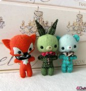 Bunny, Bear and Fox Brooch - Michelle Down - Gingermelon