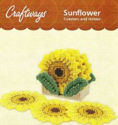Sunflower Coasters and Holder - 270022 - Craftways