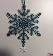 Aqua Crystal Ornament - Mill Hill