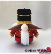 Christmas Nutcracker Gonk Add On - Ling Ryan - Hooked on Patterns - Free