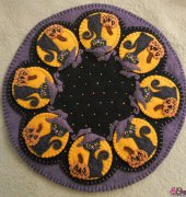 Spooky Halloween Candle Mat - 159 - Penny Lane Primitives