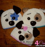 Hound Dog Beanie and Earflap Pattern - Ruth McColm - Simply 2 Irresistible