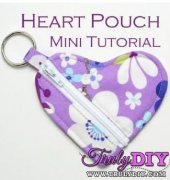Heart Shaped Pouch Mini-Tutorial - Erin Erickson - free