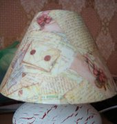 Lamp in decoupage technique - unknown internet