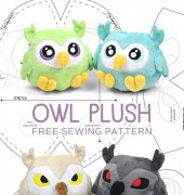 Owl Plush - Choly Knight - Sew desu ne? - free