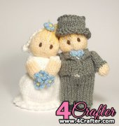Bride and Groom Wedding Bitsy Baby Dolls by Claire Fairall Designs