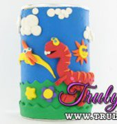 Dinosaur Pencil or Bank Container by Sculpey (free)