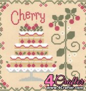 Cherry Cake - Cakes Series - Nikki Leeman - Country Cottage Needleworks