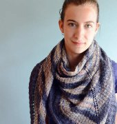Lilacs in the Wind Shawl - Gabrielle Vezenia - Gabrielle Knits - Free - German