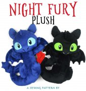 Night Fury Plush - Sew Desu Ne? - Choly Knight - free
