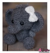 Crocheted Elephant - Affordable Cuteness - Theresas Crochet Shop - Theresa Grey