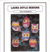 Owl Ornaments - D251 - Laura Doyle Designs