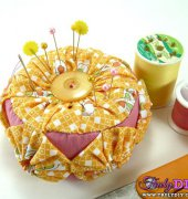 How to Make a Yo-Yo Pincushion - Diane Gilleland - Crafty Pod - free