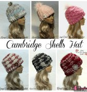Cambridge Shells Hat - Kris Moore - Krissys Over The Mountain Crochet