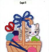 Cat in Knitting Basket - 1901 - Design Works Crafts