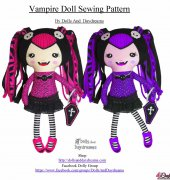 Vampire Doll Sewing Pattern - Sarah Hanson - Dolls And Daydreams