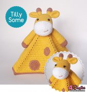 Cute Giraffe Security Blanket - Natalya Birina - Tilly Some