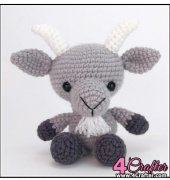 Gordon the Goat - Theresa Gray - Affordable Cuteness - Theresas Crochet Shop