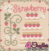 Strawberry Shortcake - Cakes Series - Nikki Leeman - Country Cottage Needleworks