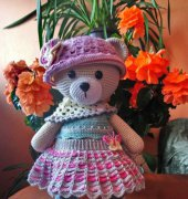 Crochet Set of Clothes for Annie the Butterfly Teddy Bear - Tanya Borissova - Sirmas Magic